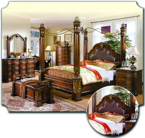 tropical furniture tropical retreat poster canopy canopy bed sets bedroom furniture sets w poster canopy