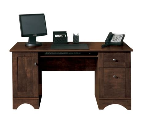 wood desks for small spaces solid wood computer desk with several drawers an option