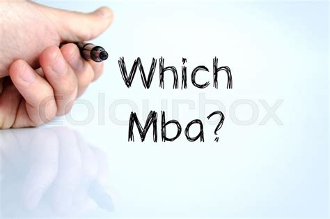 Mba Text by Which Mba Text Concept Isolated White Background
