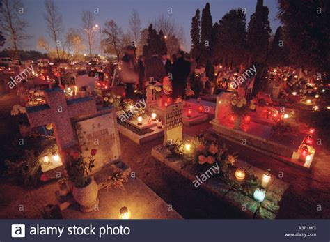 all saints day poland on pinterest all saints day poland and all saints day wszystkich swietych at a cemetery in