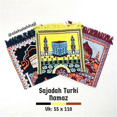 Sajadah Turki Hemat Tipis O267 sajadah turki namaz oleh oleh haji