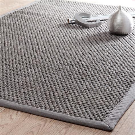 tappeti in sisal tappeto intrecciato grigio in sisal 200x300cm bastide