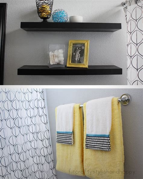 grey and yellow bathroom ideas fit crafty stylish and happy guest bathroom makeover