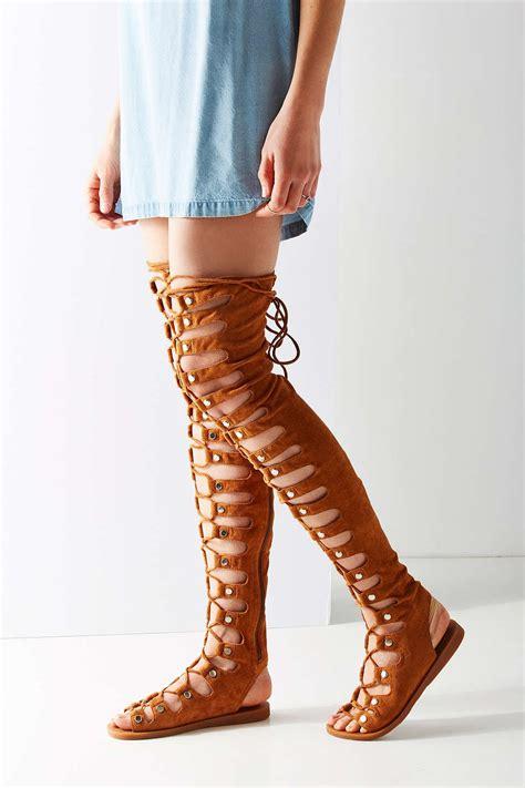 the knee sandals jeffrey cbell olympus the knee gladiator sandal in