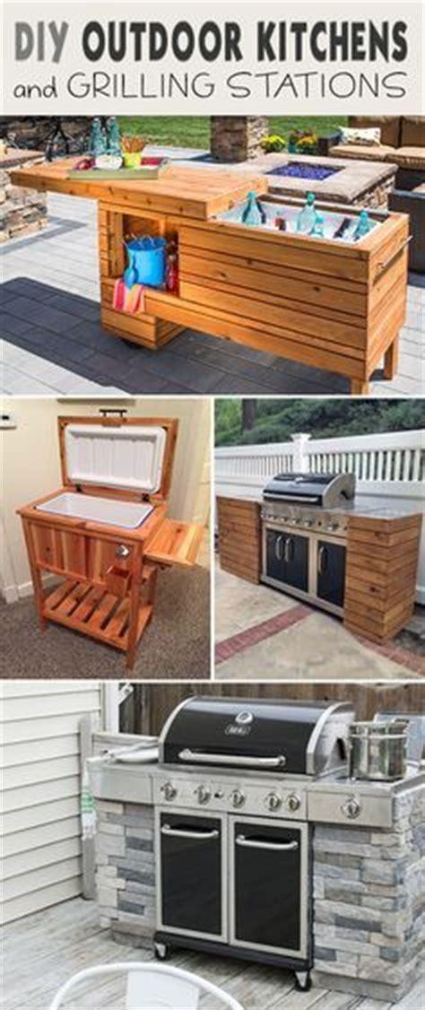 diy outdoor kitchen cabinets 25 best diy outdoor kitchen ideas on pinterest grill