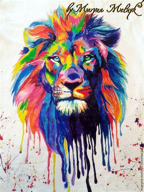 imagenes de leones vintage colorful lion drawing www imgkid com the image kid has it