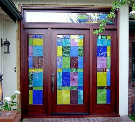 Glass Doors Houston Designer Series Transitional Stained Glass Front Door In Houston Tx Transitional Entry