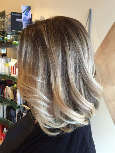 blond ombre bob blonde ombr 233 with long aline bob hair by gary yelp