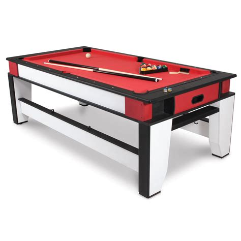 The Rotating Air Hockey To Billiards Table Hammacher
