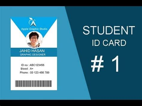 how to design id card in adobe photoshop how to design student id card in photoshop i photoshop