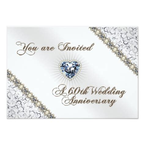 60th wedding anniversary card templates free 60th wedding anniversary rsvp invitation card zazzle