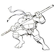 ninja turtles coloring pages donatello ninja turtle color pages free murderthestout