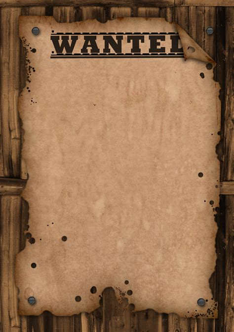 wanted posters template wanted poster template ks2 images