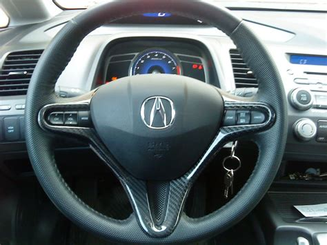 honda civic steering wheel cover carbon fibre steering wheel cover and rear view mirror for
