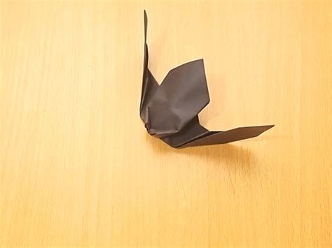 How To Make Paper Bats - how to make an origami bat 9 steps with pictures wikihow