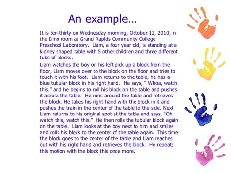 Child Development In Preschool Essay by Observing Children And Writing Anecdotal Records