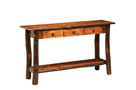 amish sofa table amish lakeside rustic sofa table