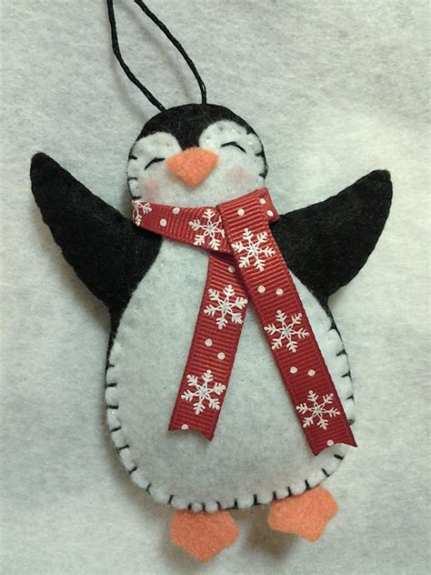 Handmade Ornaments For - felt penguin ornament felt penguin by