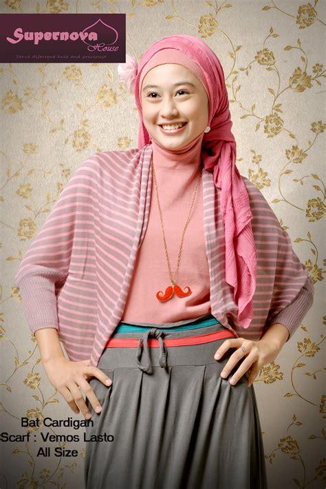 bat cardigan nila pink baju muslim gamis modern