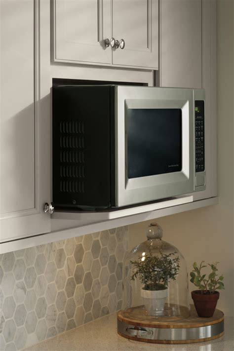 Kitchen Cabinets With Microwave Shelf Wall Microwave Open Shelf Cabinet Aristokraft