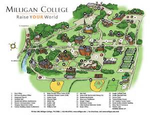 college cus map milligan college cus