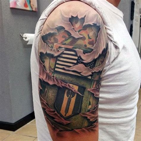 camo tattoo half sleeve 40 camo tattoo designs for men cool camouflage ideas