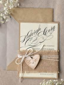22 burlap wedding invitation ideas weddingomania