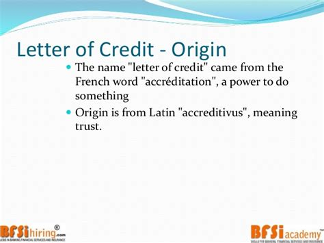 Financial Letter Of Credit Trade Finance Letter Of Credit