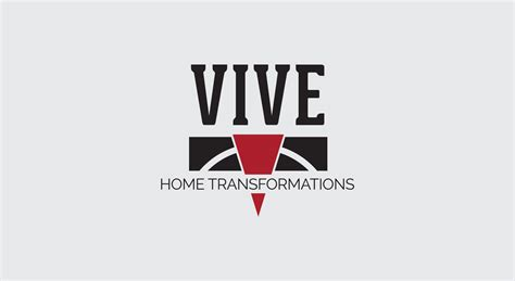 work from home logo design vive home transformations logo design brand identity by pop dot