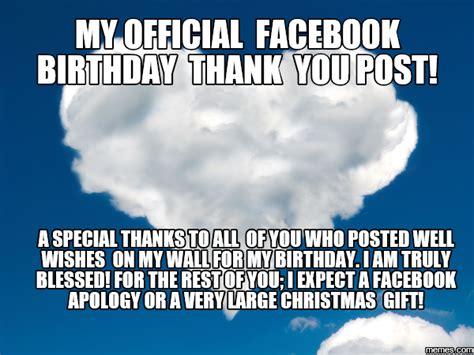 Birthday Thanks Meme - home memes com