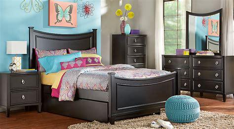 jaclyn place black  pc full bedroom teen bedroom sets black