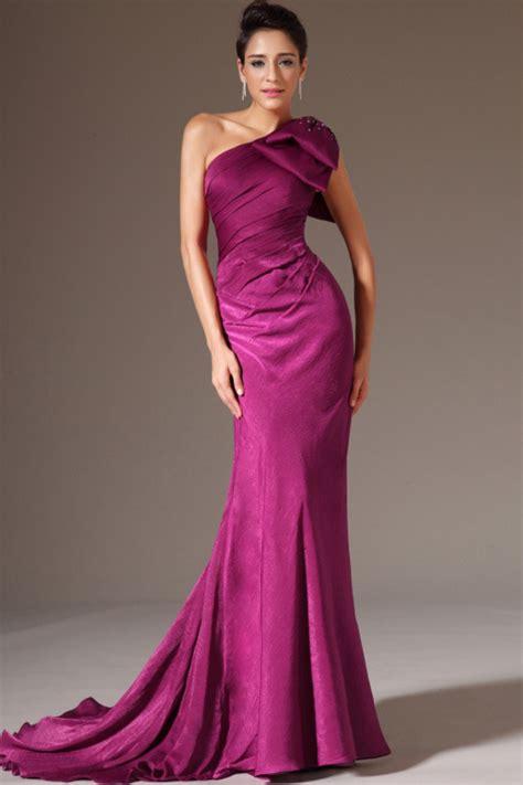 haute formal evening gowns one shoulder elegant