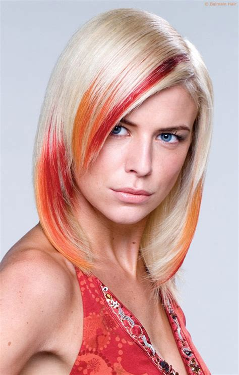 blone hair with pink streaks 29 styles for blonde hair with red highlights for 2013