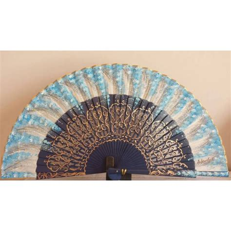 Handmade Fans - fan with certificate wood made painted and