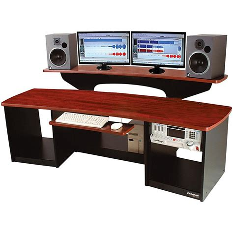 Omnirax Force 24 Studio Desk Mahogany Musician S Friend Omnirax 24 Studio Desk