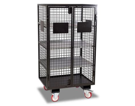 mobile with mobile security cage with forklift pockets security