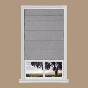 gray texture cordless fabric roman shade