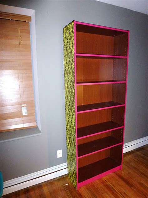 spray paint bookshelf neon lace billy bookshelf ikea hackers ikea hackers