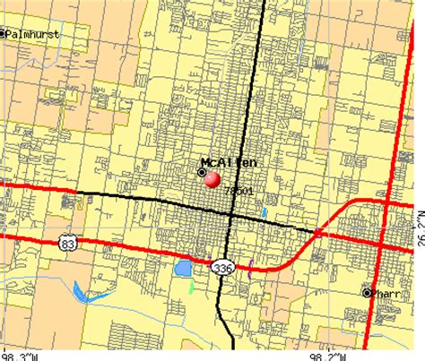 map of mcallen texas zip code mcallen texas map