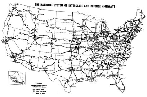map of the us highway 40 interstate system add requests march 1970