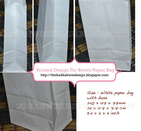 Paper Bag Kosong by auni the designer white brown paper bag with base in house