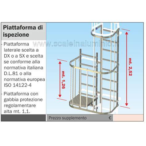 scale con gabbia scala con gabbia di protezione piattaforma di ispezione