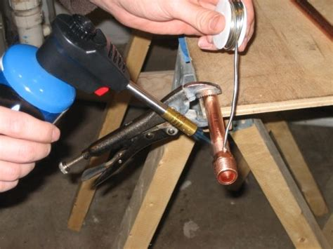 Soldering Plumbing by How To Sweat Solder Copper Pipe