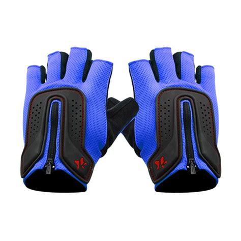 Sarung Tangan Fitness Blue jual lasona sarung tangan olahraga blue black as fg002