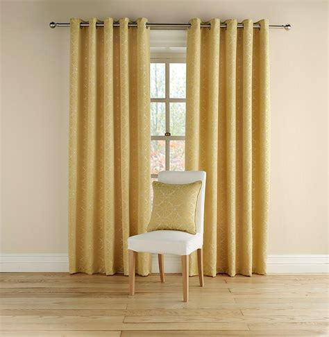 mustard colored drapes buy montgomery rotunda mustard lined eyelet curtains 229cm