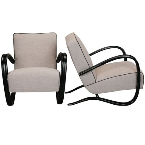 halabala jindrich pair of lounge chairs by jindrich halabala upholstery