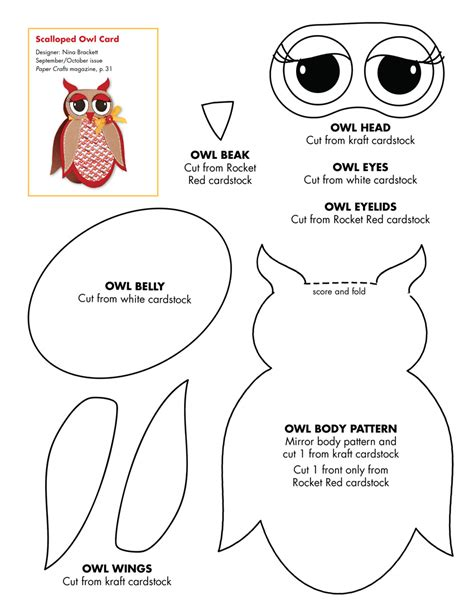 free printable owl pattern template september october 2010 patterns september october 2010