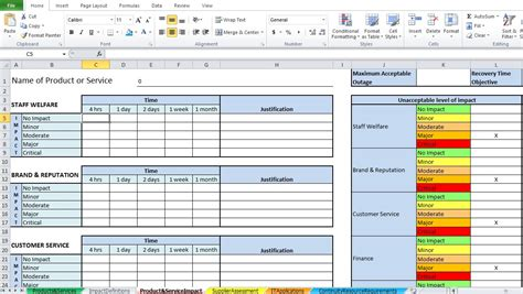excel templates for business analysis business impact analysis template excel excel tmp