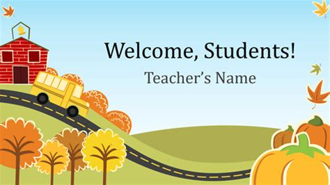 Back To Elementary School Presentation Widescreen Elementary Powerpoint Templates