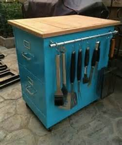 Upcycled Metal Filing Cabinet 20 Of The Best Upcycled Furniture Ideas Kitchen Carts Repurposed And Grilling